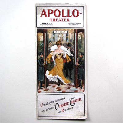 Programmheft, Apollo Theater, Wien, 1907