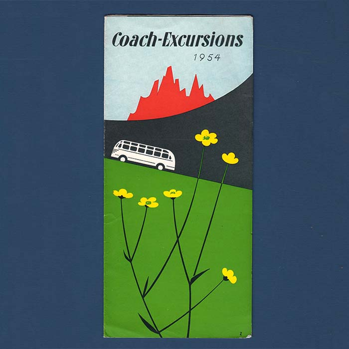 Coach-Excursions, Reiseprospekt, 1954
