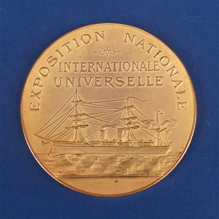 Nice 1897, Bronze - Plakette, Exposition Nationale