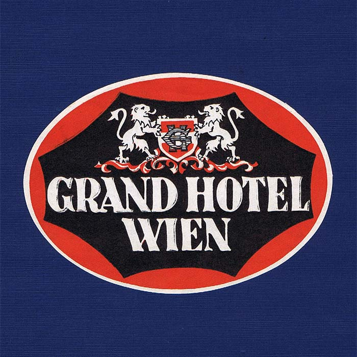 Grand Hotel Wien, Label / Kofferkleber