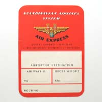 SAS - Scandinavian Airlines System, Air Express Label